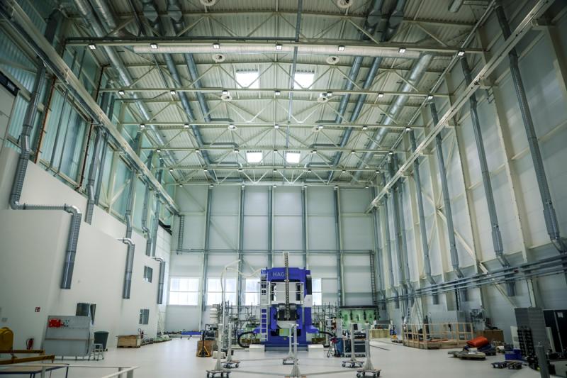 Blick in die Werkshalle der Ariane 6