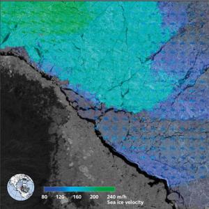 Satellitenbild der Arktis
