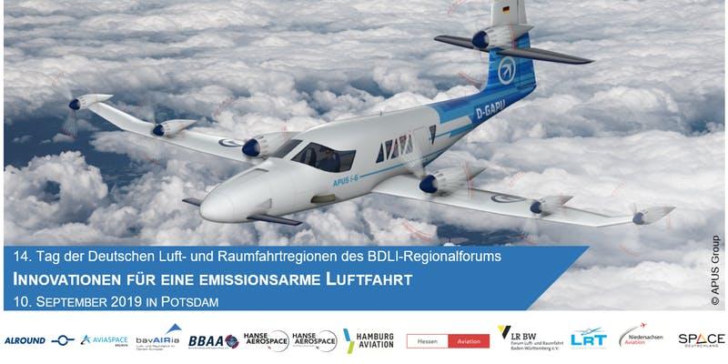"""14. Tag der Deutschen Luft- und Raumfahrtregionen """"Innovationen für eine emissionsarme Luftfahrt"""""""