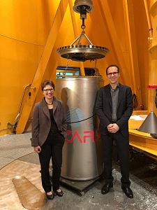 Senatorin Schilling besucht das ZARM: Neuer GraviTower ist im Bau