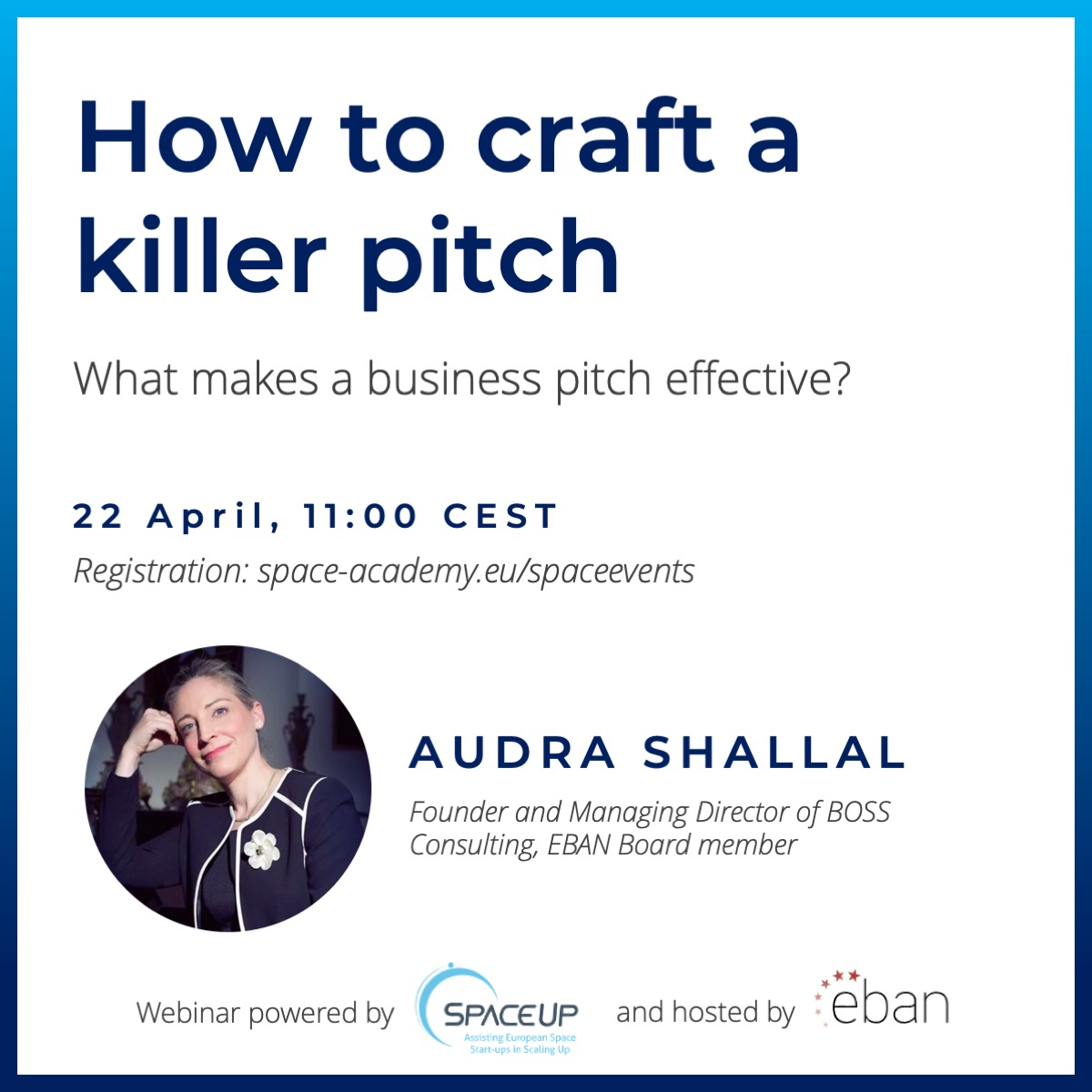 SpaceUp WEBINAR - How to craft a killer pitch