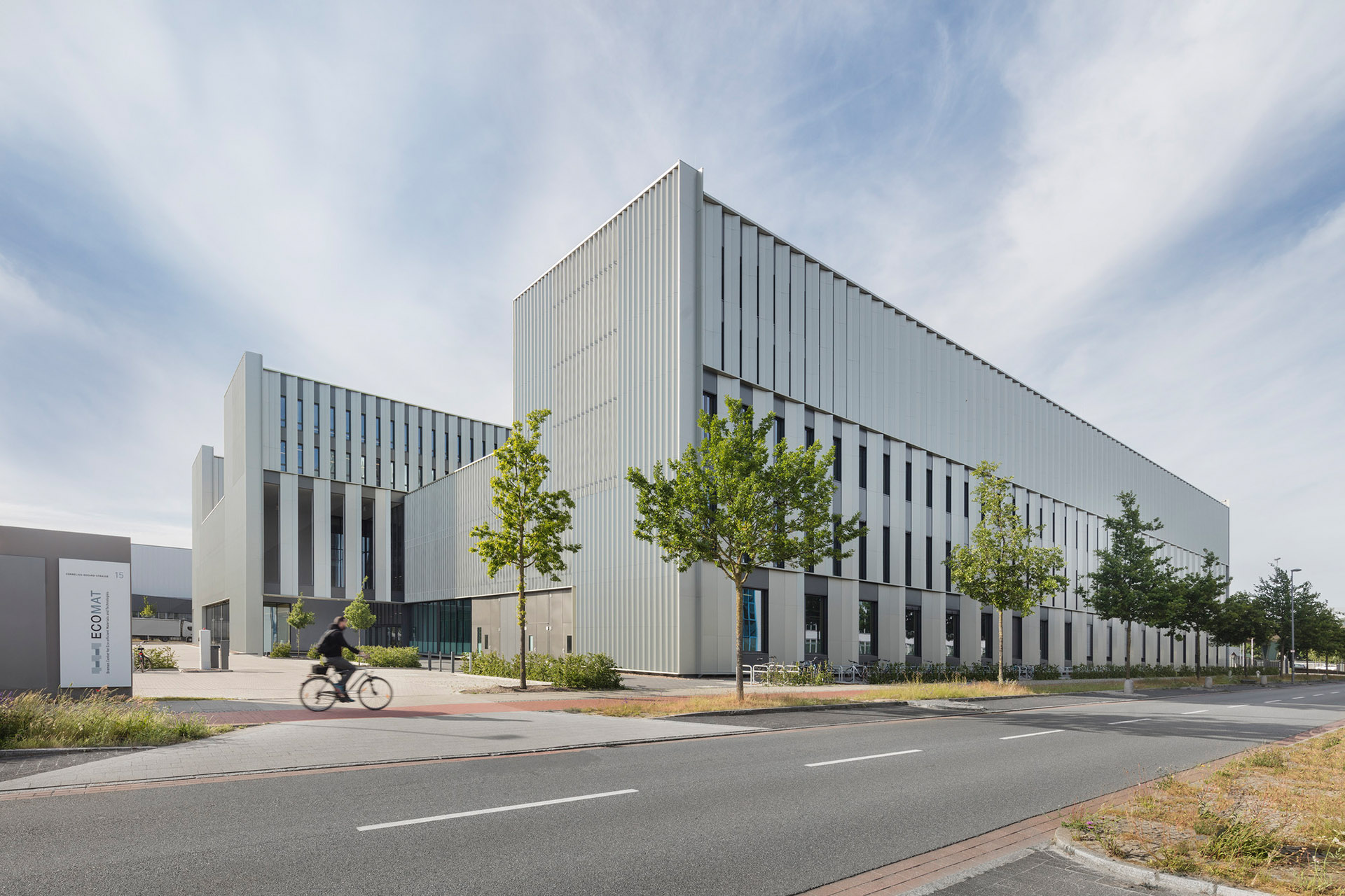 Das Gebäude des Ecomat-Center