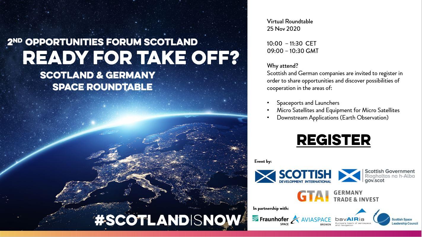 Virtueller Runder Tisch: Weltraum Schottland-Deutschland