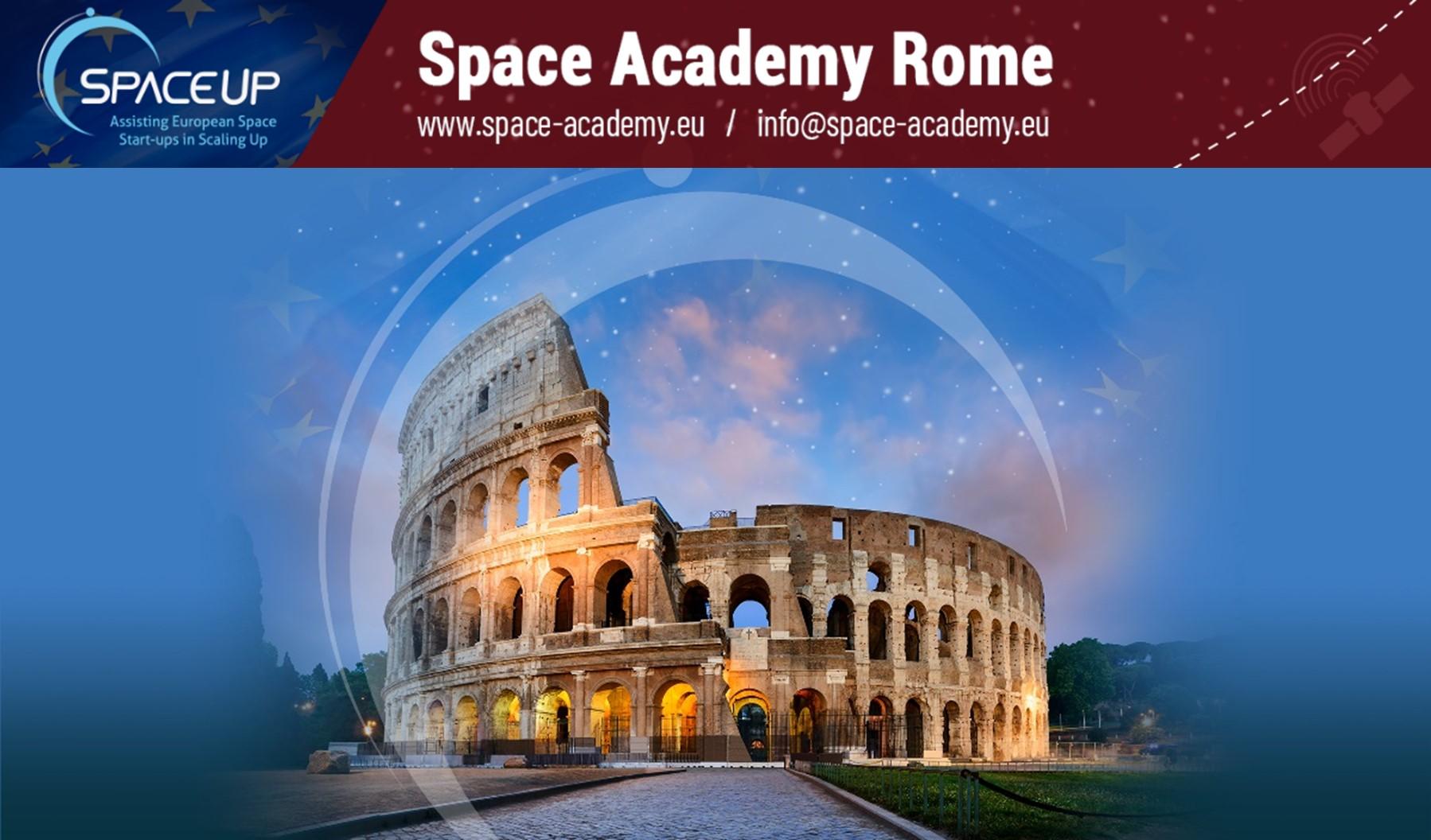 Flyer zur Space Academy Rome