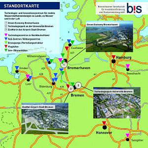 Standortkarte: Technologie- und Innovationszentrum für mobile Wasserstoffanwendungen