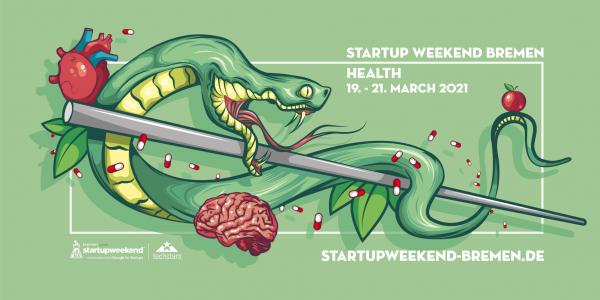 Keyvisual zum Startup Weekend Bremen Health