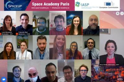 Teilnehmende der Space Academy Paris
