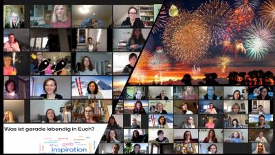Montage verschiedener Screenshots, auf denen videokonferenzen zu sehen sind